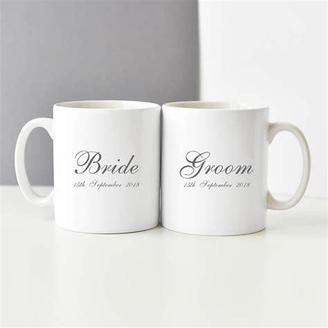 bride  groom personalised mug set  koko blossom