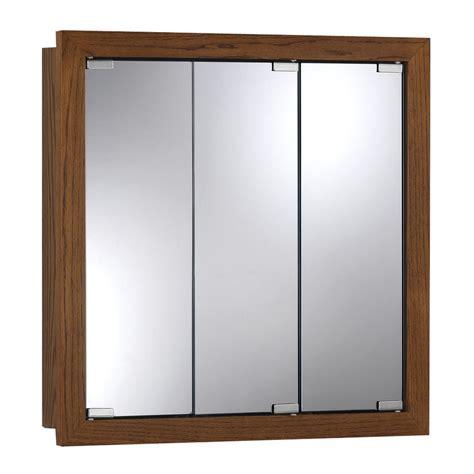 surface mount medicine cabinet shop broan granville 48 in x 30 in honey oak particleboard