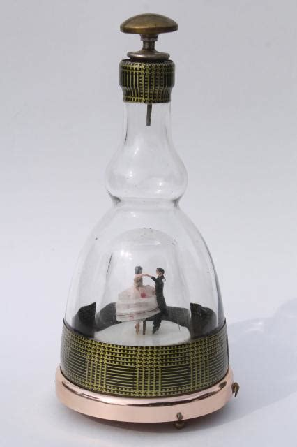 vintage decanter bottle dancing couple  box