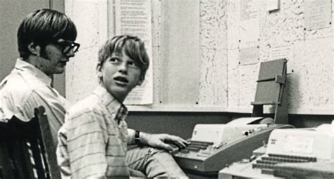Bill Gates and Paul Allen at Lakeside School on Teletype ...