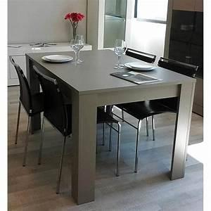 Table 140 Cm : basic dining table 140 cm taupe ~ Teatrodelosmanantiales.com Idées de Décoration