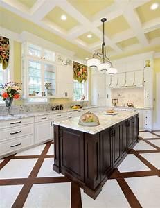 Unique, Kitchen, Floor, Tile, Designs, Floor, Tile, That, Enhances, The, Kitchen, Design