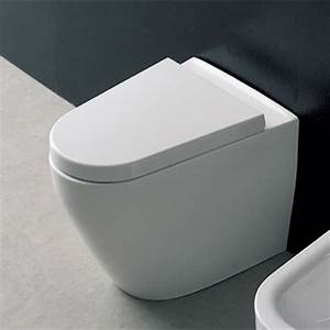 Modern floor standing white ceramic tizi toilet zuri for Tankless floor mounted toilet