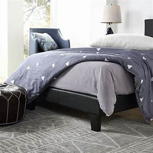 3ft, Single, Bed, Frame, Quality, Black, Pu, Faux, Leather, Bedroom, Modern, Easy, To, Clean
