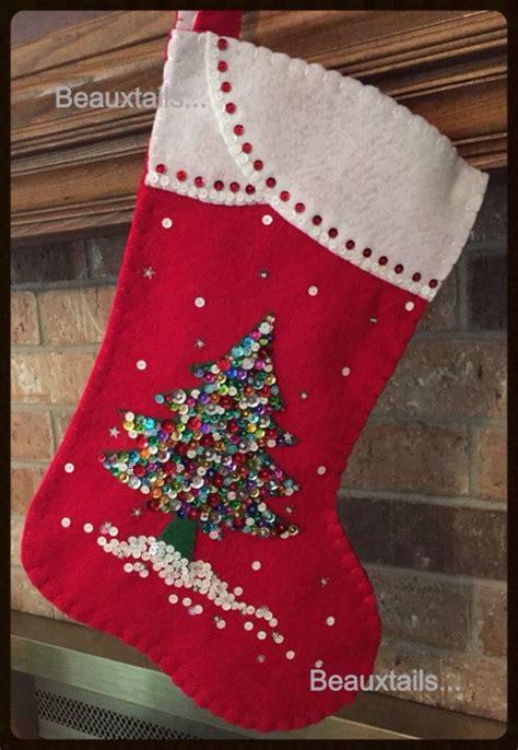 felt christmas stockings ideas  pinterest diy