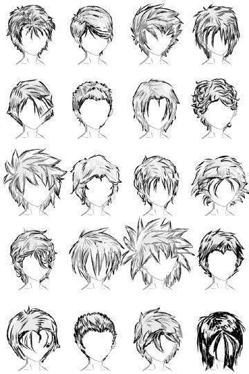 「漫畫教材」動漫人物髮型設計參考-3 - 每日頭條
