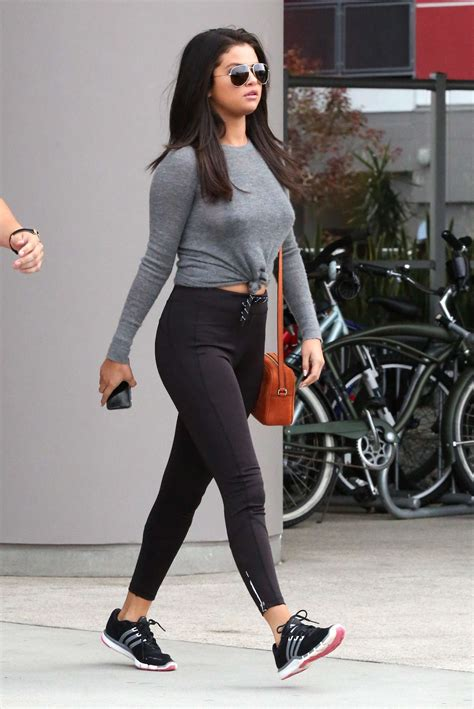 Selena Gomez in Leggings -10 - GotCeleb