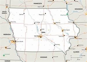 Stock Vector Map Of Iowa