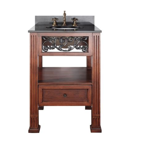 25 inch single sink bathroom vanity with cherry