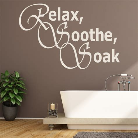 relax soothe soak wall sticker bathroom wall art