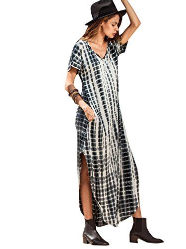 makemechic casual maxi sleeve split tie dye
