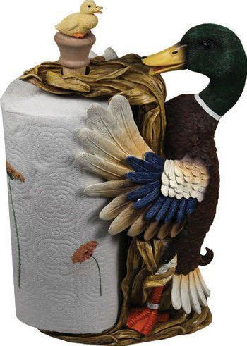 NEW COUNTERTOP PAPER TOWEL HOLDER TAGGED MALLARD DUCK YELLOW BABY DUCKLING DUCK eBay Home
