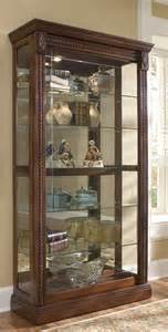 pulaski curio cabinet 20485 two way sldg door curio