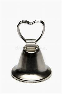 Small Wedding Bell Isolated On White Stock Photos Image