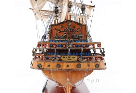 san felipe open hull tall ship model