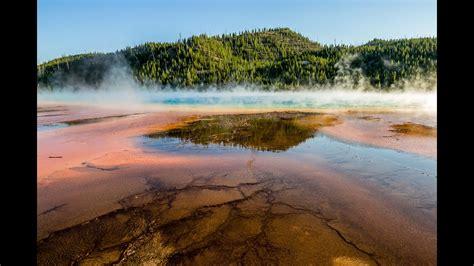 beautiful grand prismatic spring yellowstone national