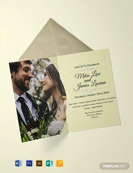 FREE Editable Wedding Invitation Template Word PSD