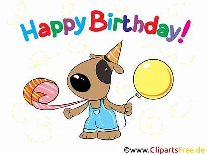 Clipart Hund Birthday Happy Karte Bild Geburtstag