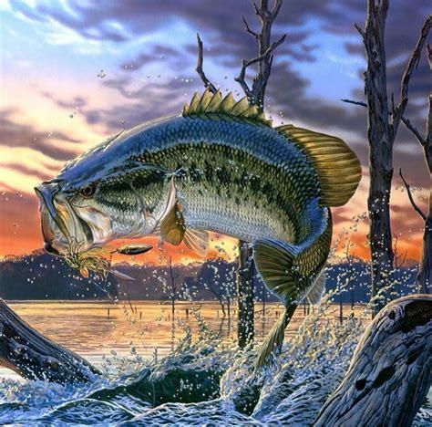 cool bass art its no tommy kinnerup but i like it fishing