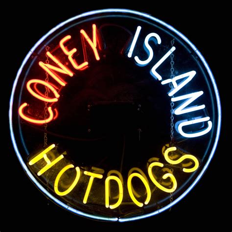 coney island hot dogs neon sign air designs