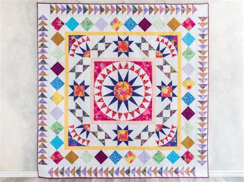 paper wall meet me in the middle quilt kit craftsy
