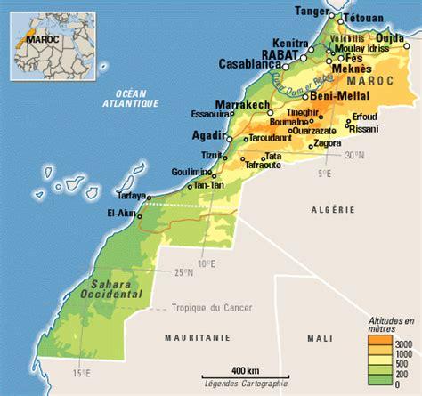 Carte Du Maroc Avec Les Principales Villes by Meknes 1