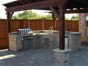 Backyard, Bbq, Area, Design, Ideas
