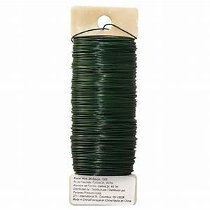 Panacea U2122 Green Floral Wire  24 Gauge