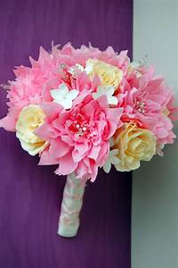 Pink dahlia paper flower wedding bouquet | Handmade PaPer ...