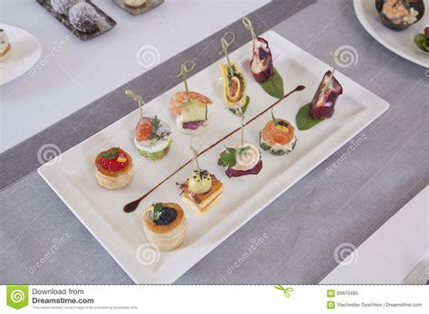 rye bread canapes appetizers canapes stock photo image 69870485