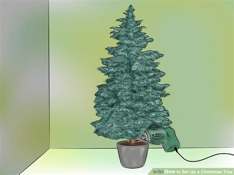 how to put up achristmas tree without a stand how to set up a tree 13 steps with pictures wikihow