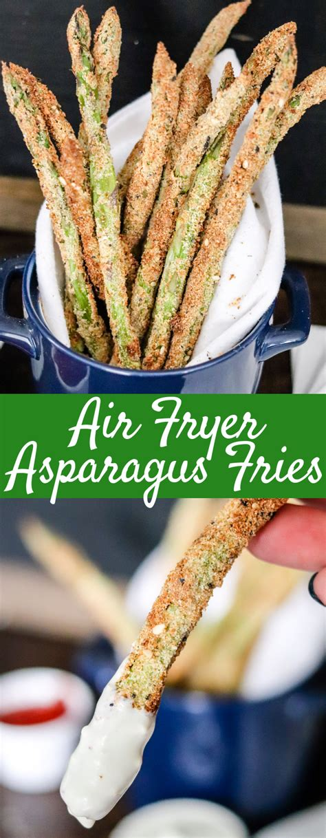 asparagus air fryer fries recipe easy minutes ingredients less than superhero snack dish become done oil favorite side these long
