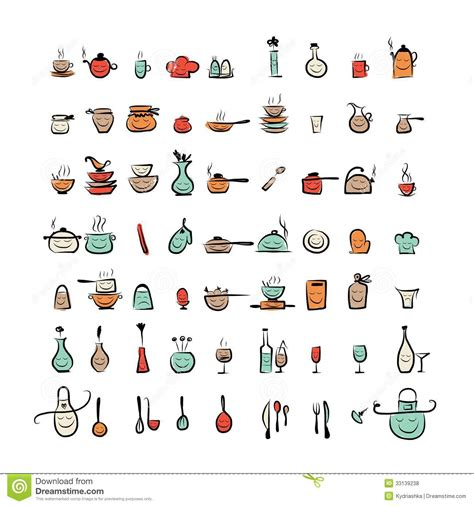 caract 232 res d ustensiles de cuisine ic 244 nes de dessin de