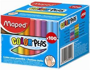 Tableau Mural Craie : maped craie pour tableau color 39 peps ronde couleurs assorties achat vente maped 82593501 ~ Teatrodelosmanantiales.com Idées de Décoration