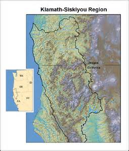Klamath-Siskiyou Mountain Range Map