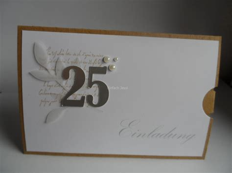 einladungskarten silberhochzeit selbst gestalten silber