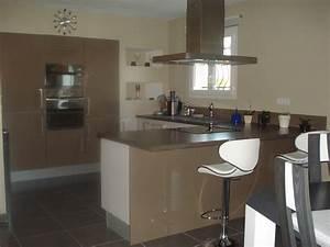 couleur mur pour cuisine maison bois moderne toit plat With couleur mur pour cuisine