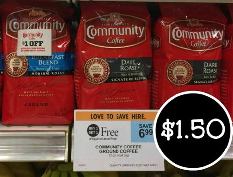 You'd need to walk 4 minutes to burn 15 calories. Community Coffee Just $1.50 At Publix!
