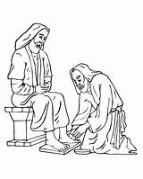 Coloring Jesus Feet Foot Clipart Washing Washes Printable Disciples Cliparts Washed Library Lamb Printables Easter Animal Popular Coloringhome Favorites sketch template