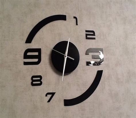 horloge de cuisine moderne diy horloge mural home décor design moderne miroir