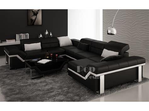 canapé en cuir design canapé d 39 angle cuir panoramique design torino xl pop