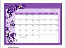 May 2017 Calendar Pdf weekly calendar template