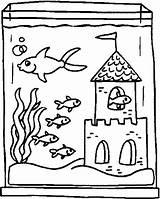 Coloring Aquarium Pages sketch template