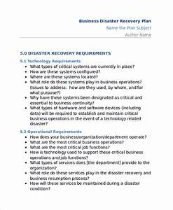11 disaster recovery plan templates free sample example With data center disaster recovery plan template