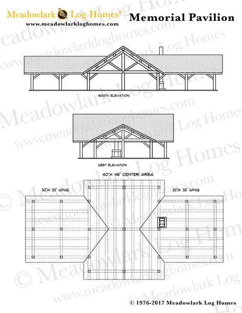 memorial log pavilion meadowlark log homes