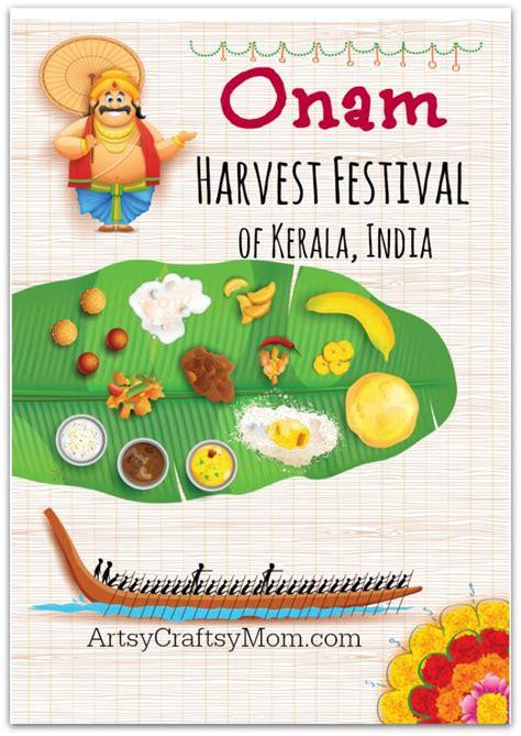 celebrating onam  harvest festival  kerala india