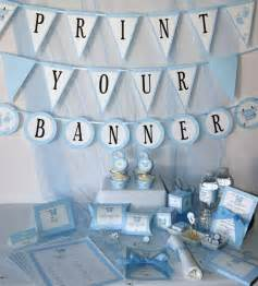 Baby Shower Printables - Baby Boy Blue - DIY Party Supplies and Decorations - Complete set - PDF digital format