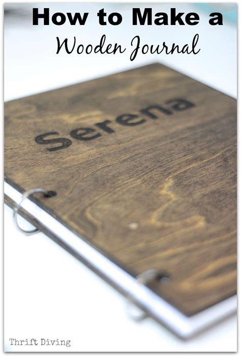 homemade diy journal   wood