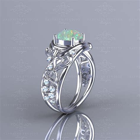 novella 1 38ct opal white gold heart engagement ring