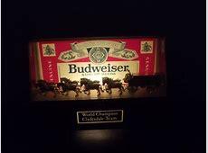 Vintage Budweiser World Champion Clydesdale Team Lighted